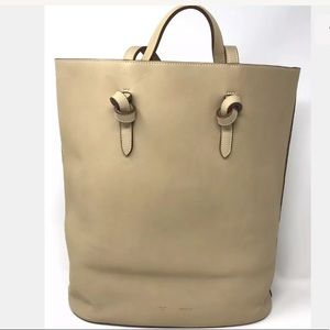 Celine Calfskin Twisted Tie Knot Tote Chamois